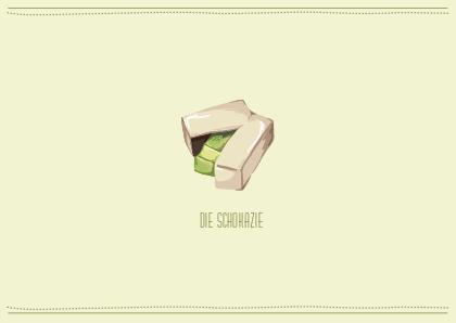 Postkarte Schokazie 2